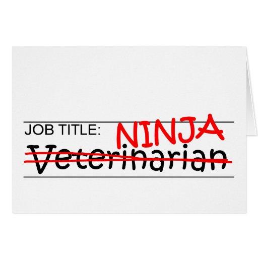 Cargo Ninja - veterinario Tarjetas