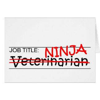 Cargo Ninja - veterinario Tarjeta De Felicitación