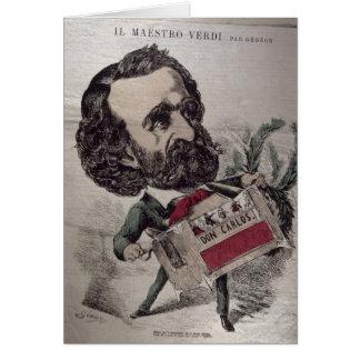 Caricatura de IL Maestro', del italiano Tarjeta De Felicitación