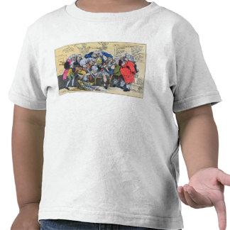 Caricatura de los cirujanos georgianos en el traba camisetas