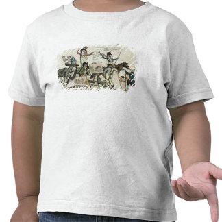 Caricatura de los curanderos que ofrecen vacunas camiseta