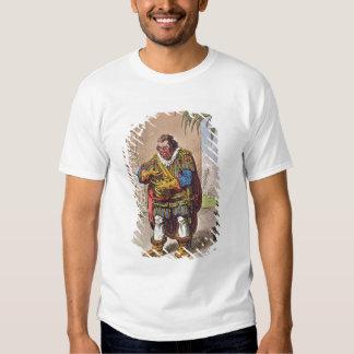 Caricatura de Pizarro que comtempla Camisetas