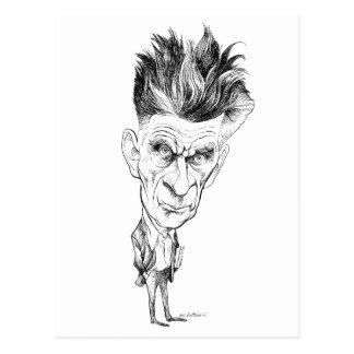 Caricatura de Samuel Beckett de Edmund S Valtman Postal
