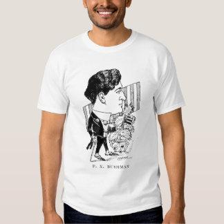 Caricatura del actor de la película muda de camisas