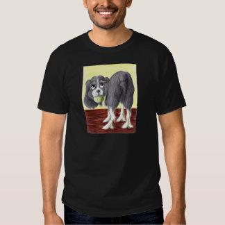 Caricatura del perro de aguas de saltador camisetas