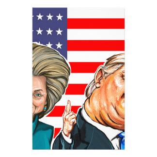 Caricatura del triunfo y de Hillary Papelería