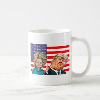 Caricatura del triunfo y de Hillary Taza De Café