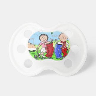 Caricatura personalizada del dibujo animado de los chupetes de bebé