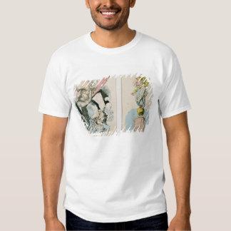 Caricaturas de Victor Hugo y de Napoleon III Camisetas
