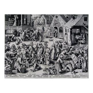 Caridad de Pieter Bruegel la anciano Tarjeta Postal