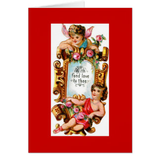 Cariño de los Cupids Tarjeta De Felicitación