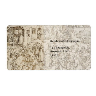 Caritas (caridad) por Pieter Bruegel la anciano Etiquetas De Envío