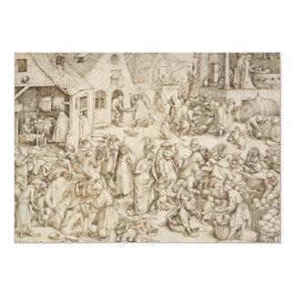 Caritas (caridad) por Pieter Bruegel la anciano Invitación 12,7 X 17,8 Cm