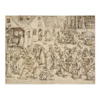 Caritas (caridad) por Pieter Bruegel la anciano Postal