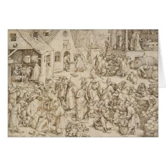 Caritas (caridad) por Pieter Bruegel la anciano Tarjeta De Felicitación