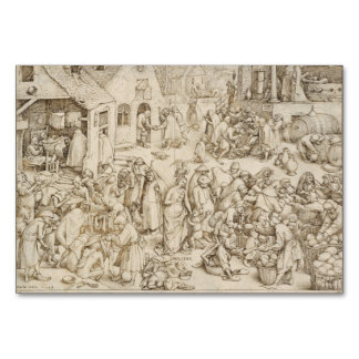 Caritas (caridad) por Pieter Bruegel la anciano