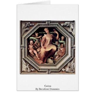Caritas de Beccafumi Domingo Tarjeta De Felicitación