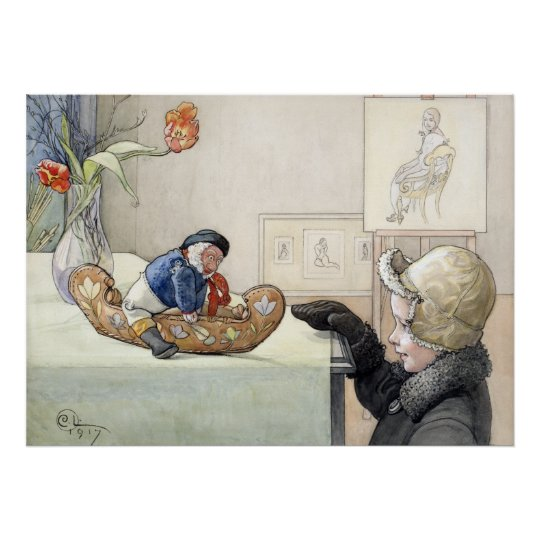 Carl Larsson el poster divertido 1917 de la Póster