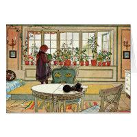 Carl Larsson - flores en el Windowsill