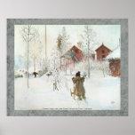 Carl Larsson - jardín y la casa del lavado Impresiones