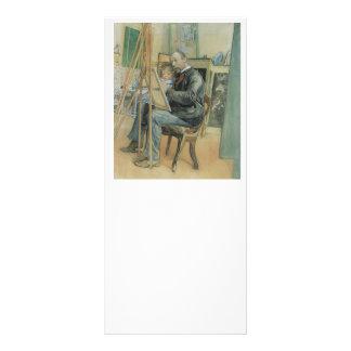 Carl Larsson que pinta con su hija Tarjetas Publicitarias A Todo Color