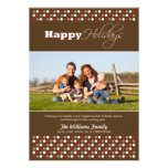 Carmesí/tarjeta del día de fiesta de la familia de