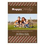Carmesí/tarjeta del día de fiesta de la familia de invitación
