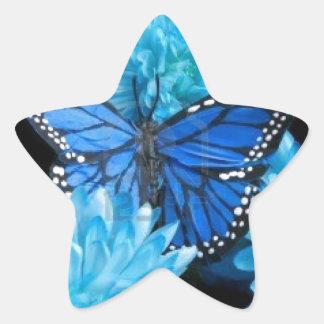 carnations.jpg azul calcomanías forma de estrellas personalizadas