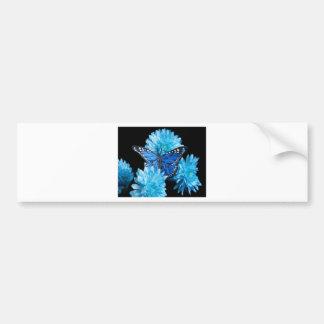 carnations.jpg azul pegatina para coche