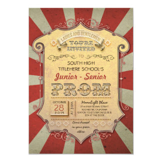 carnaval - baile de fin de curso del vintage del invitación 12,7 x 17,8 cm