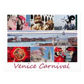 Carnaval de Venecia Postal