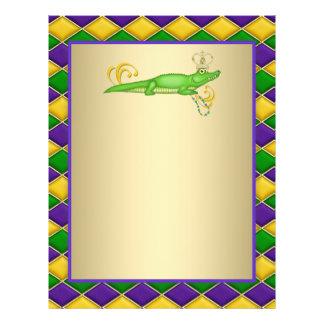 Carnaval del cocodrilo folleto 21,6 x 28 cm