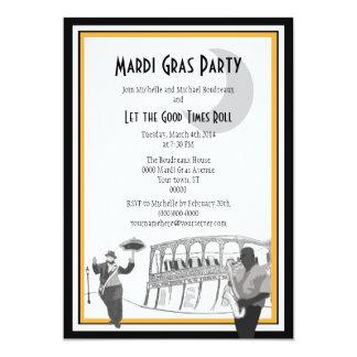 Carnaval del jazz de New Orleans Invitación 12,7 X 17,8 Cm