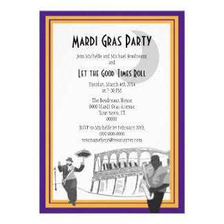 Carnaval del jazz de New Orleans púrpura