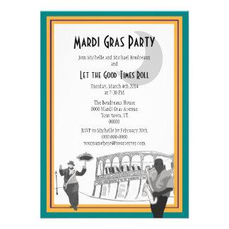 Carnaval del jazz de New Orleans verde del trullo