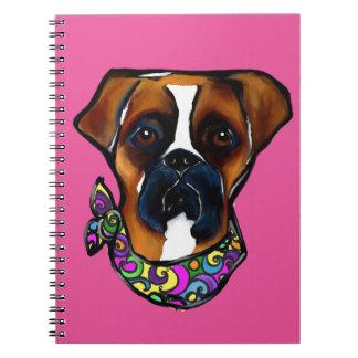 Carnaval del perro del boxeador cuaderno