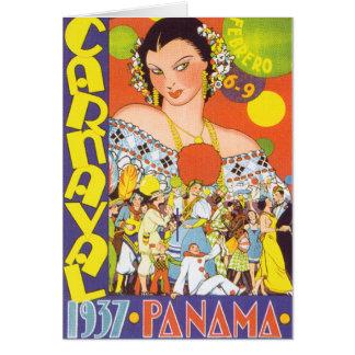 Carnaval en Panamá Tarjeta De Felicitación