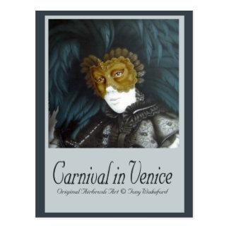 Carnaval en Venecia Postal