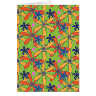 Carnaval floral tarjeta pequeña