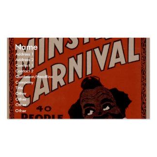 Carnaval grande de Ministrels de Oliverio Scott, 4 Tarjetas De Visita
