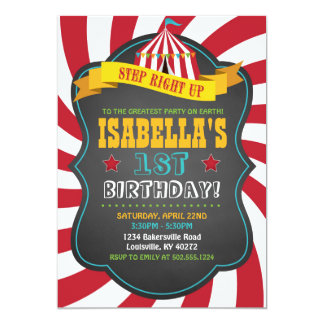 Carnaval o invitación de la fiesta de cumpleaños