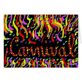 Carnaval Tarjeta De Felicitación