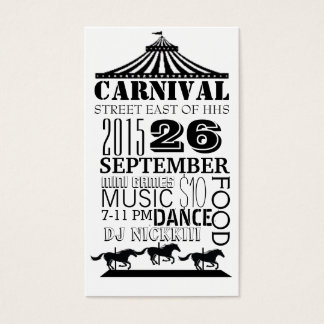 carnaval tarjeta de negocios