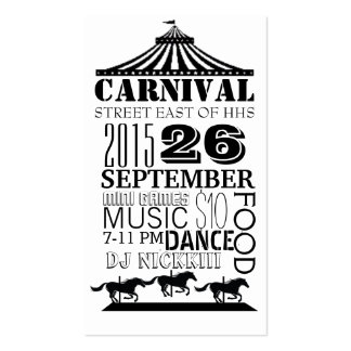 carnaval tarjetas de visita