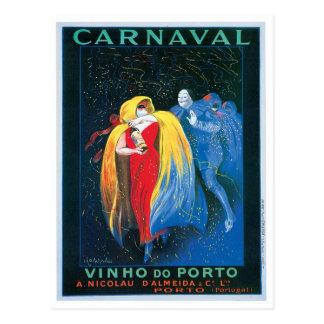 Carnaval Vinho hace arte del anuncio del vino del Postal