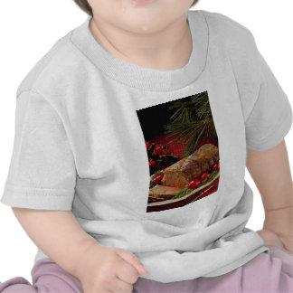 Carne asada de carne de vaca cortada con las camisetas