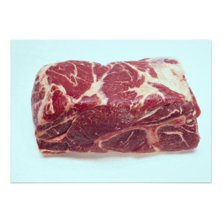 Carne asada de cerdo del extremo anuncio