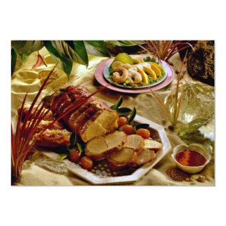 Carne asada de cerdo deliciosa invitacion personalizada
