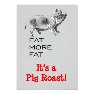 Carne asada del cerdo invitación 12,7 x 17,8 cm