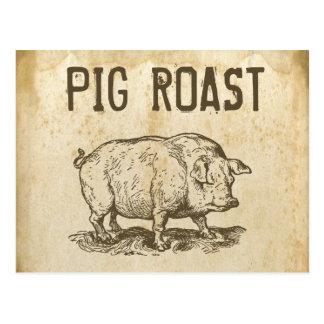 Carne asada del cerdo postal